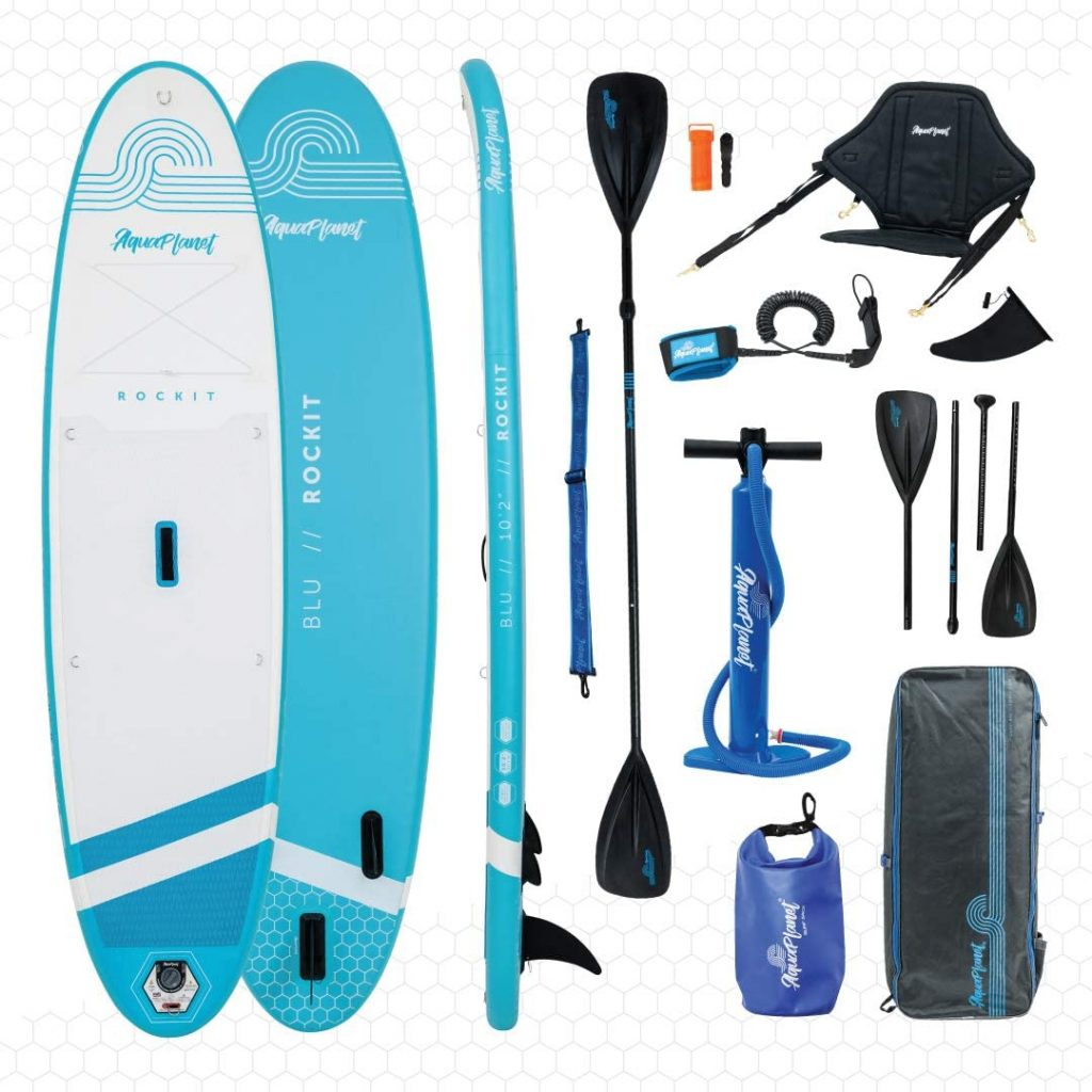 Aquaplanet Rockit BLU Travel SUP Inflatable Stand Up Paddle Board