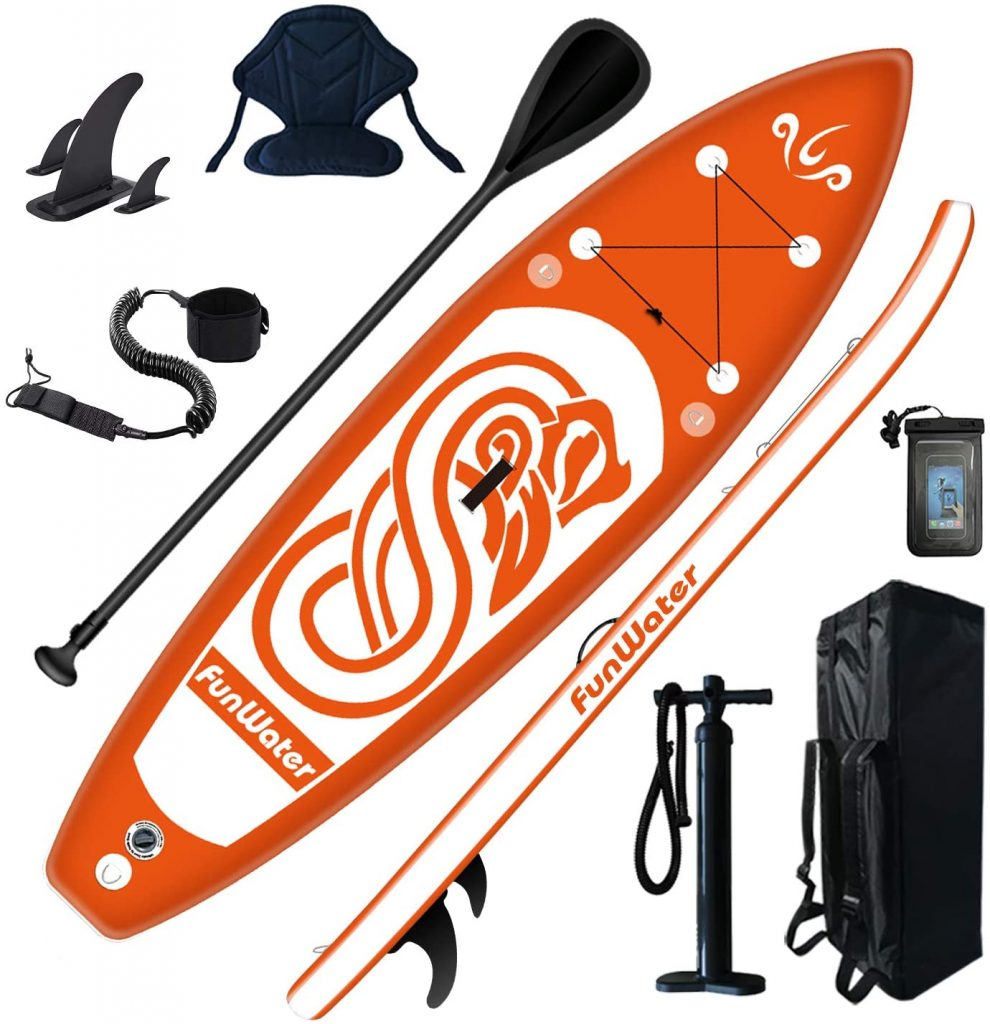 FunWater Inflatable Paddle Board Kayak Combo