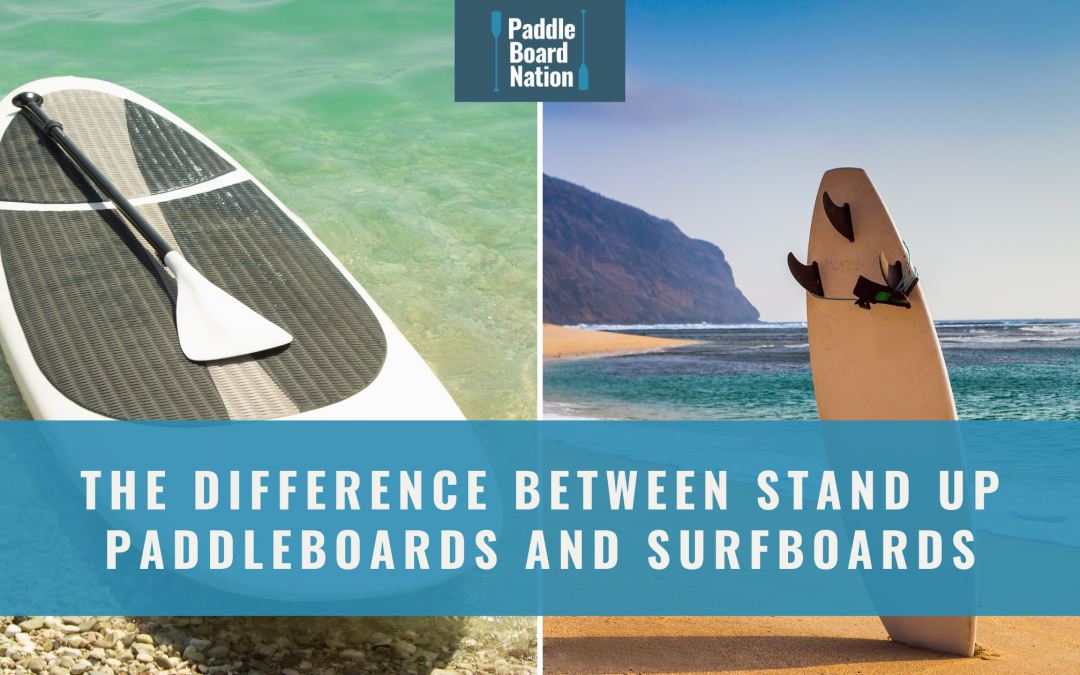 The Difference Between Stand Up Paddleboard and Surfboard