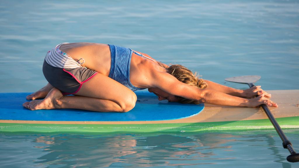 Beginner Paddle Board Yoga Poses