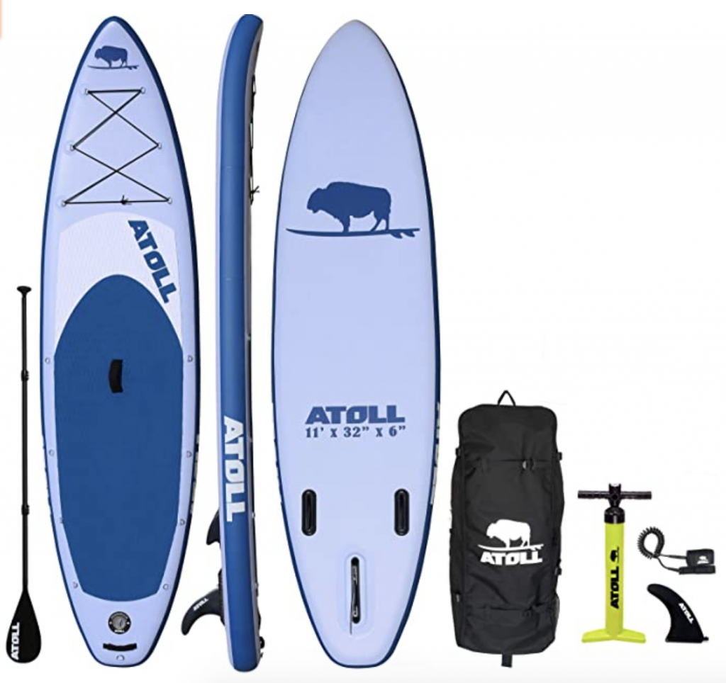 Atoll Inflatable Stand Up 11' Fishing Paddle Board