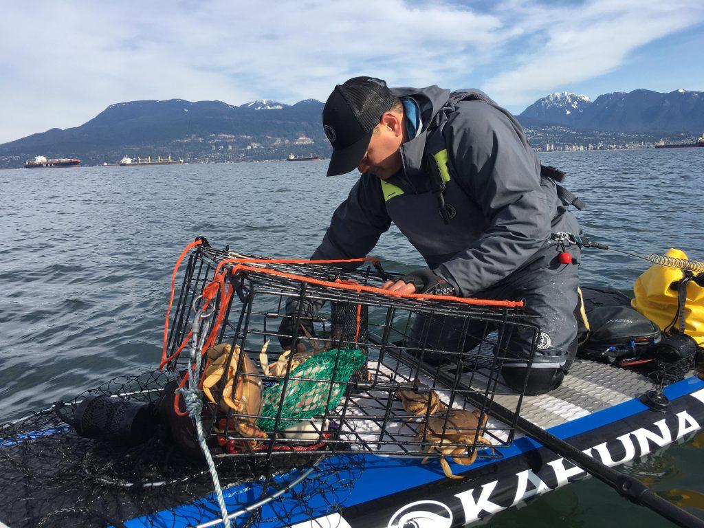 Paddle Board Crabbing